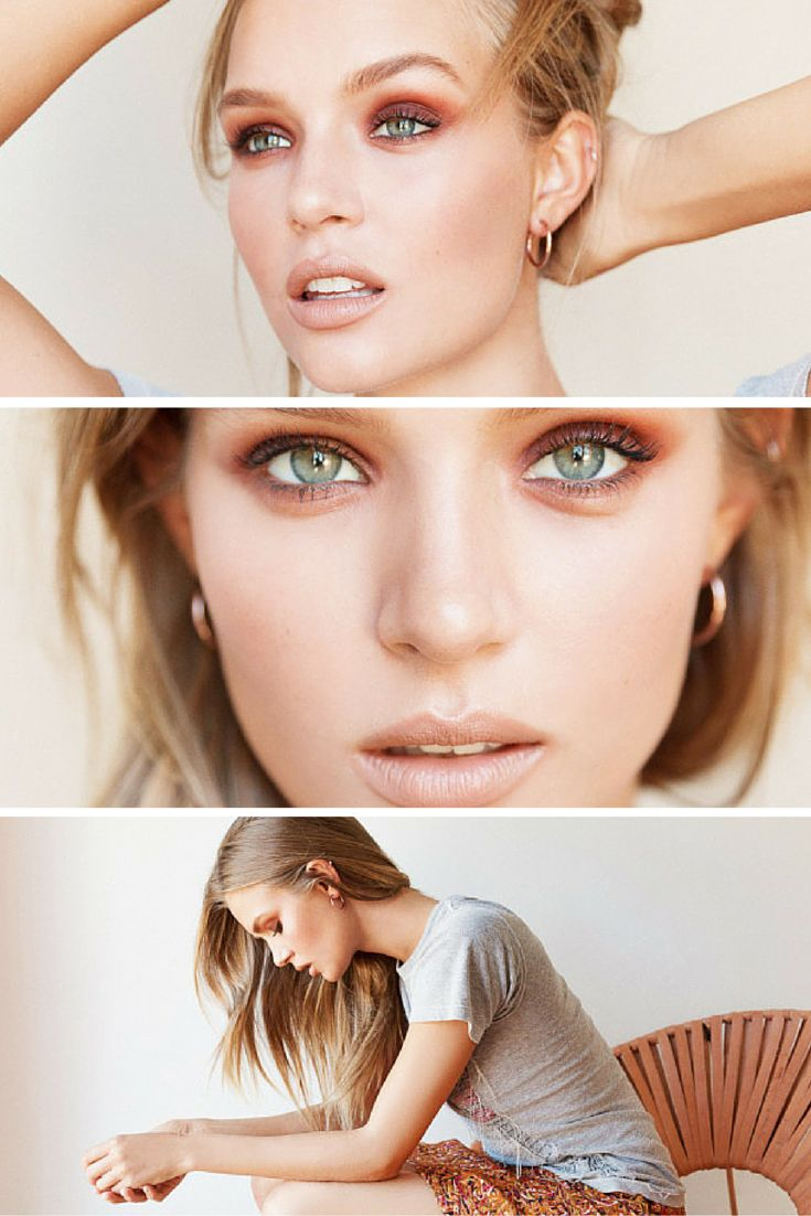 Victoria's Secret's favorite makeup artist Hung Vanngo demonstrates three neutral makeup looks on Angel Josephine Skriver, exclusively for ITG.