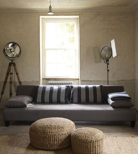 Like the grey mixes with natural fiber color and textures.