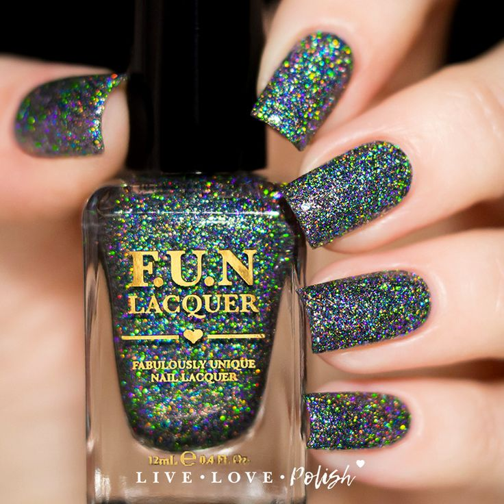 Super Black Holographic Nail Polish Uk: FUN Lacquer Black Holo Witch (H) (Simplynailogical