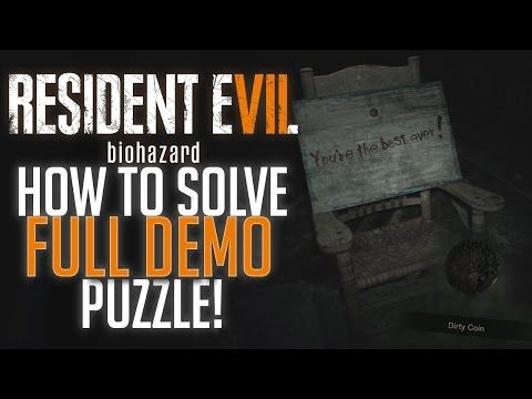 How to Solve the Resident Evil 7 Demo Secret Puzzle Ending! (Detailed Guide to get Dirty Coin!) - YouTube