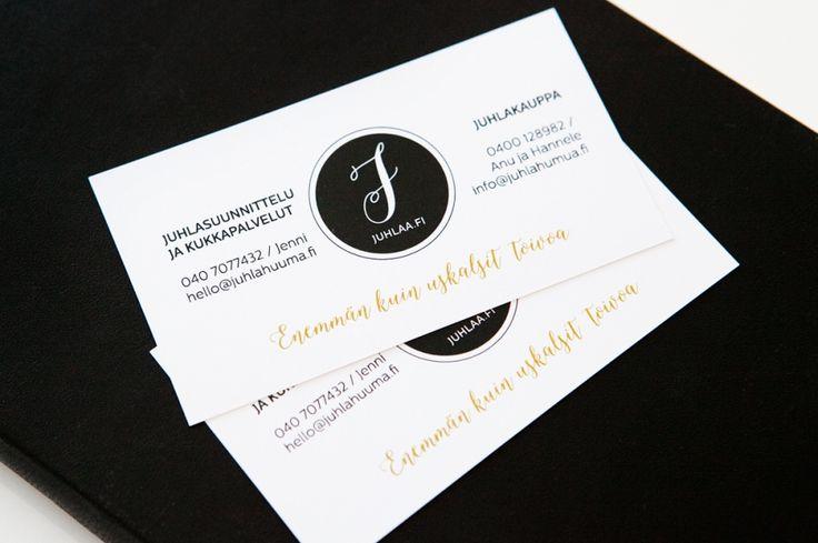 Custom made logo and business card design by www.makeadesign.fi / Logon ja käyntikorttien graafinen suunnittelu / MakeaDesign
