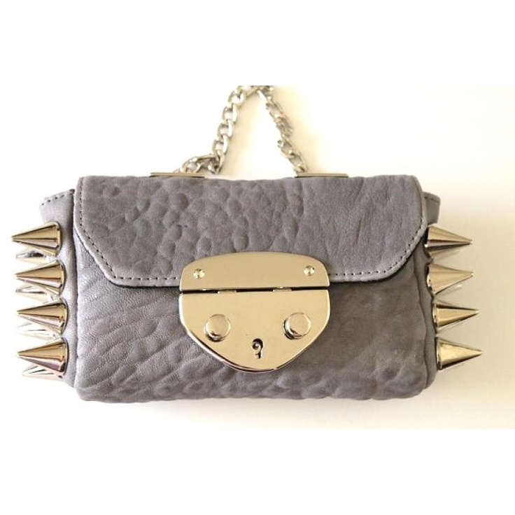 Gorgeous and edgy lamb leather bag from Ventidue. This color is beautiful.