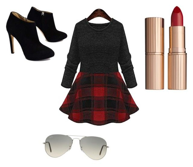 """""""Untitled #14"""" by imperfectjustsoyouno ❤ liked on Polyvore featuring Giuseppe Zanotti, Ray-Ban and Charlotte Tilbury"""