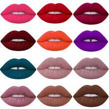 2016 a Marca de Maquiagem batom À Prova D' Água Tonalidade Lip Gloss Veludo Vermelho Verdadeiro Marrom Fosco Nu Lote Maquiagem Batom lip-tattoo-batom alishoppbrasil