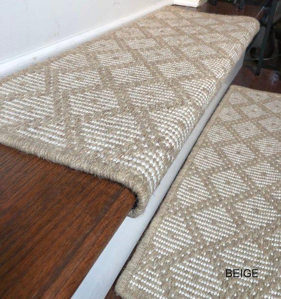 Best Padded Wool Carpet Stair Treads Tiburon Beige In 2020 400 x 300
