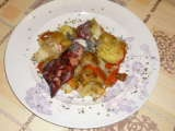 Receta Chipirón a la plancha con salteado de verduras.