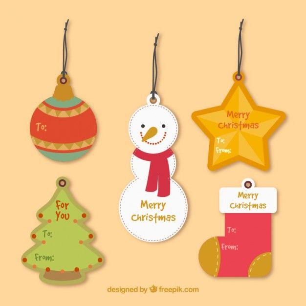 Free vector Christmas tags #33958