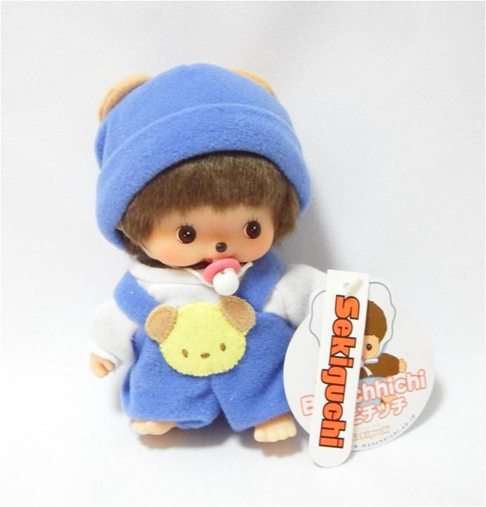 Bebichhichi 235990 - Bebichhichi Rompers Blue Dog. Authentic Bebichhichi doll from Sekiguchi. About 14cm. Suitable for child aged 6 years old and above. Ideal Birthday gift, Valentine's Day gift, Christmas gift, New Year gift, Children's Day gift and Housewarming gift! A favourite for Monchhichi & Bebichhichi doll collectors too!