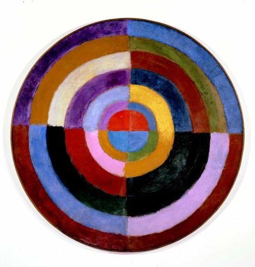 """peinture abstraite française : Robert Delaunay, 1913, """"premier disque"""", géométrique, cible, 1910s"""