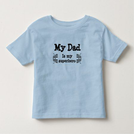 My dad is my superhero toddler t-shirt - tap to personalize and get yours