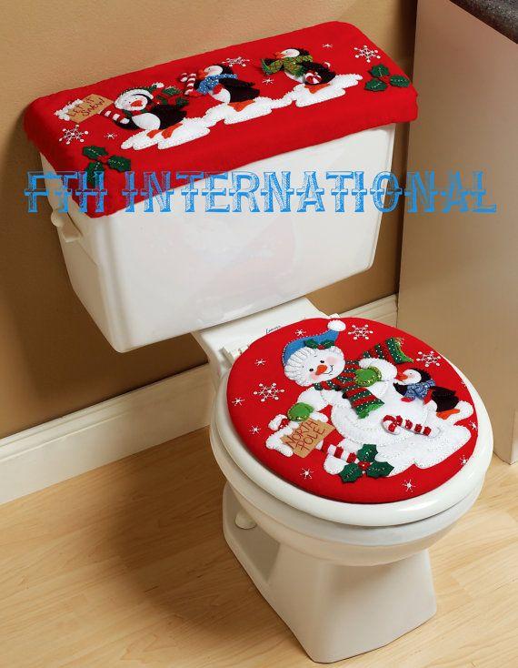 Bucilla North Pole Parade  Felt Christmas Bath Set Kit 86311