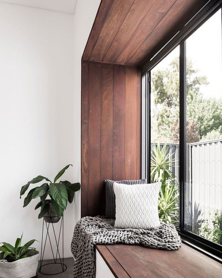 @Pinterest - loving this timber window insert.  #timber #windows #seats the only way to go!!