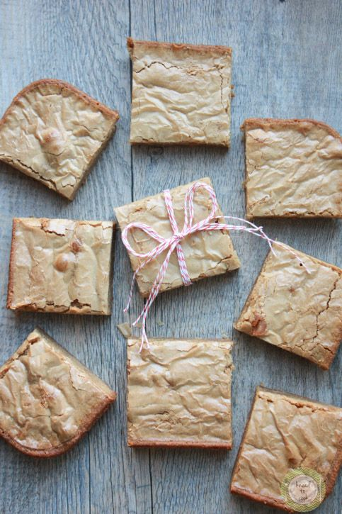 These blondies are perfect for baking and holiday gift-giving.  They have a caramelized flavor making them irresistible.  Not clean-eating by any stretch of the imagination but everything in moderation.  With a husband who is allergic to chocolate (yes, gasp!) these