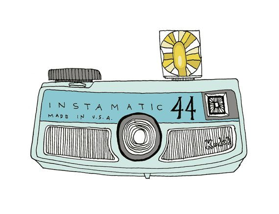 Vintage Instamatic Camera print by sloeginfizz on Etsy