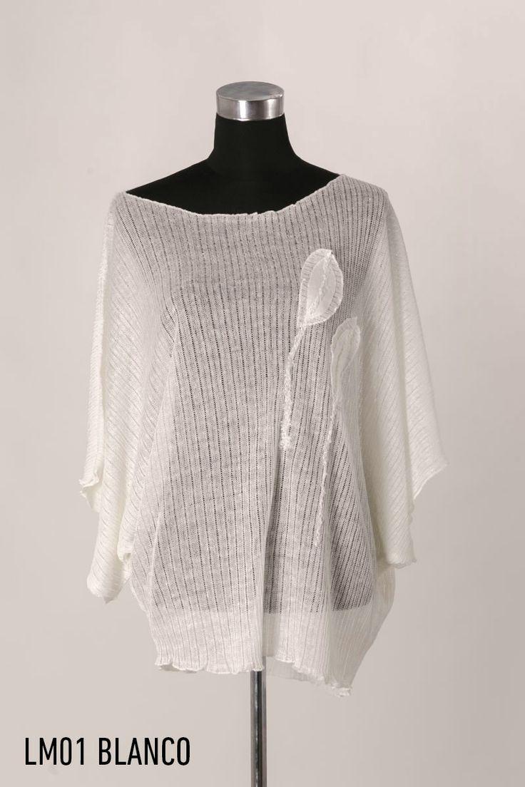 Camiseta ancha lino blanco