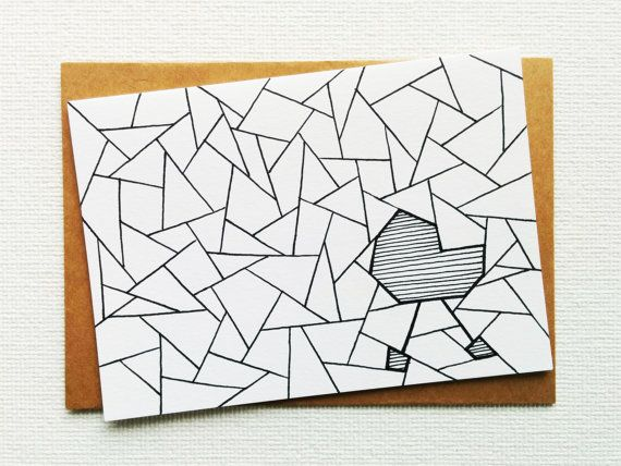 Card - It's a boy card - I'ts a girl card - New baby card - Congratulations - New mum card - Recycled paper with ink – Handdrawn
