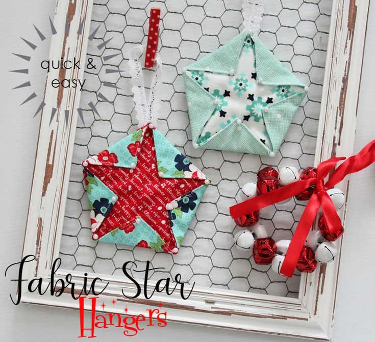Threadbare Creations- Fabric Star Hangers (Tutorial)