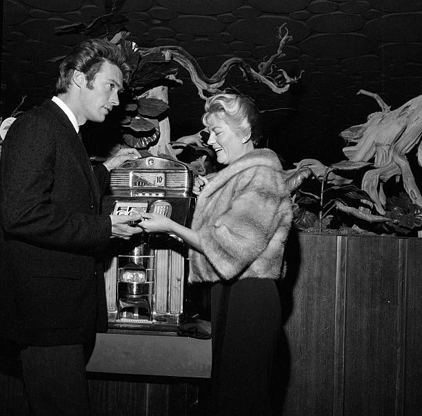 November 15 1959 Clint Eastwood and wife Maggie Eastwood visit Las Vegas NV
