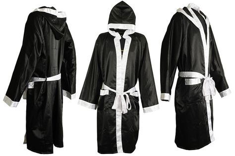 DIY Homemade Boxing Robe / Boxer Costume. Want to create a boxing robe for your favorite boxer? You not only can use sleek silk satin fabric but also turn to rayon fabric to create boxing robe. htt