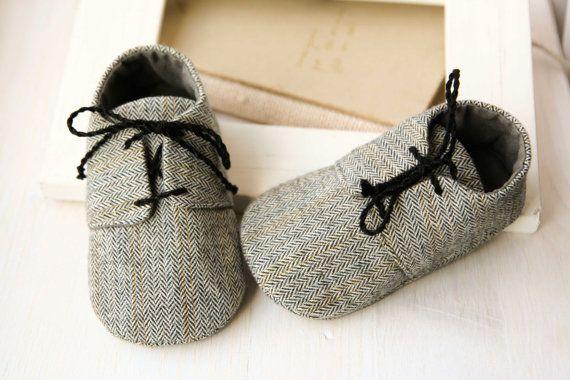 Herringbone scarpe ragazzo bambino, grigio poco scarpe uomo stivaletti bambino cotone, scarpe con suola morbide, vestito smoking bambino, scarpe da battesimo