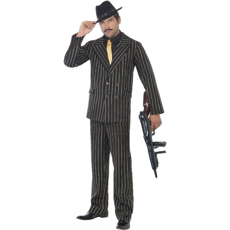 Gullstripete Gangster kostyme | Festmagasinet Standard