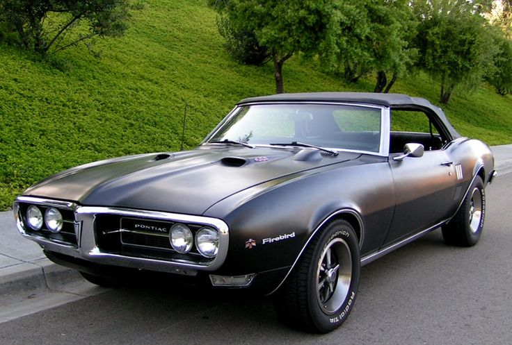 68' Pontiac Firebird in flat black