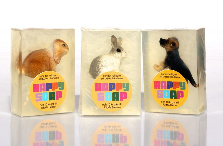 Rabbit and dog-soaps från Happy Soap.