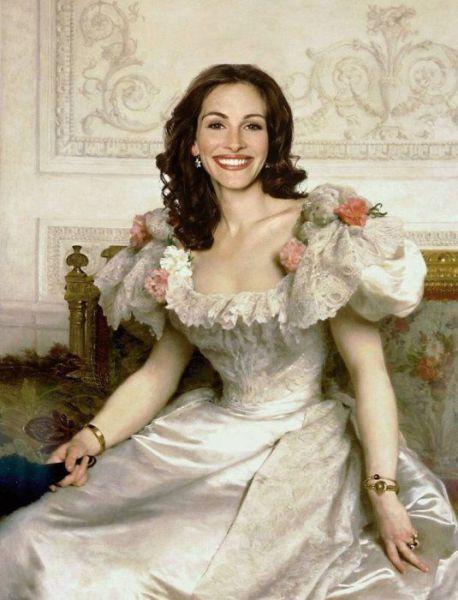 Renaissance Portraits of Famous Celebs -Julia Roberts