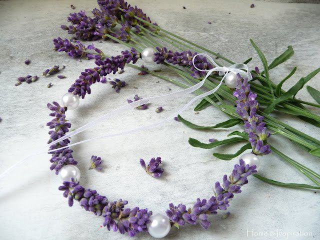 lavender head band