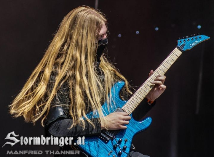 Lynd - Twilight Force ⚫ Photo by Manfred Thanner, Stormbringer.at ⚫ Rockharz 2016 ⚫ #TwilightForce #music #metal #concert #gig #musician #Lynd #guitar #guitarist #mask #ninja #armour #armor #leather #blond #longhair #festival #photo #fantasy #magic #cosplay #larp #man #onstage #live #celebrity #band #artist #performing #Sweden #Swedish #Rockharz