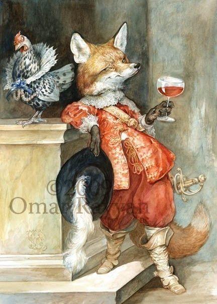 Sly Fox (mini Print). $7.00, via Etsy.