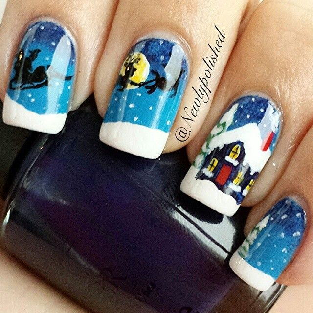 christmas by newlypolished #nail #nails #nailart