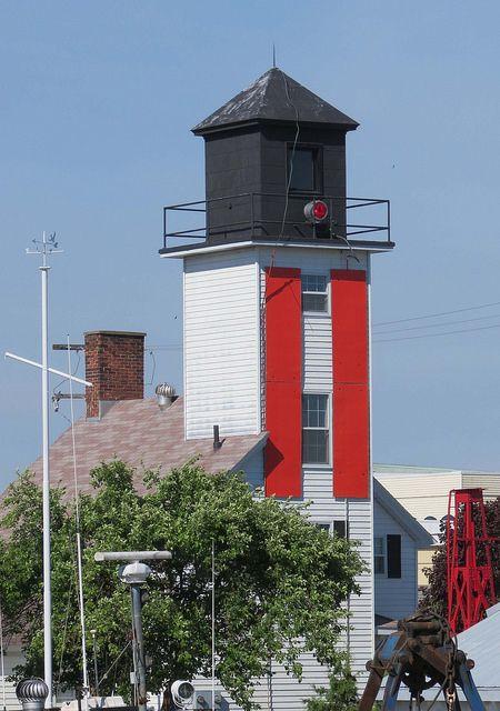 Cheboygan River Front Range Lighthouse, Cheboygan, Michigan by Karl Agre, M.D., via Flickr