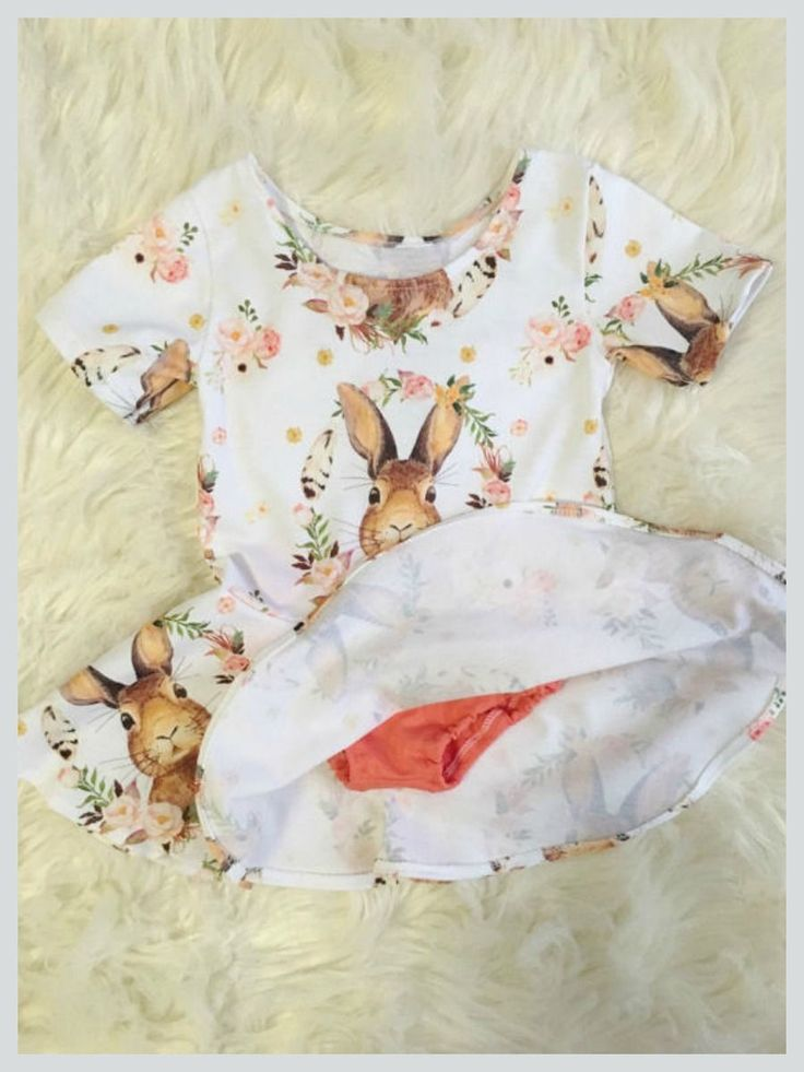 vintage easter bunny print on a twirl dress for toddler girls. #easter #affiliate #toddlerfashion