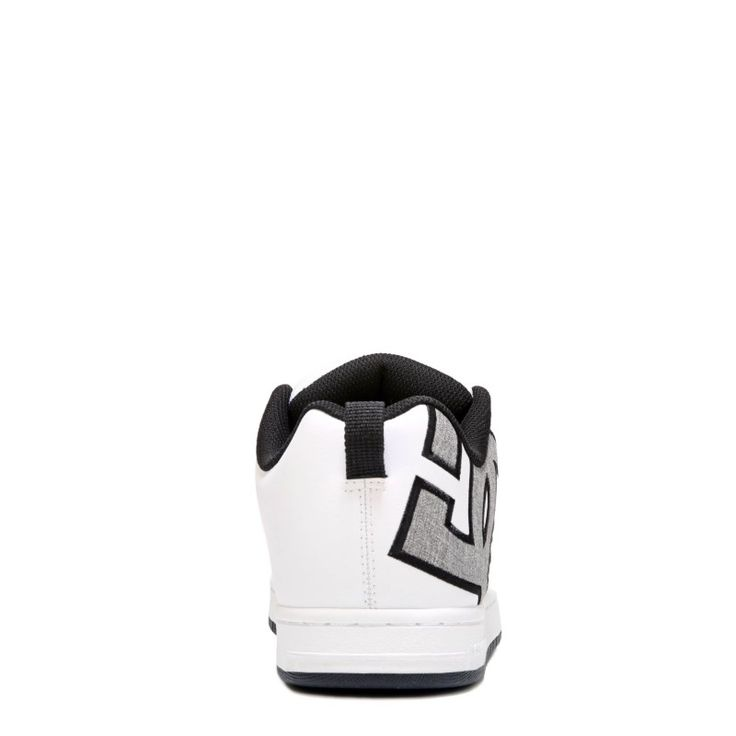 DC Shoes Men's Court Graffik SE Skate Shoes (White/Heather Grey)