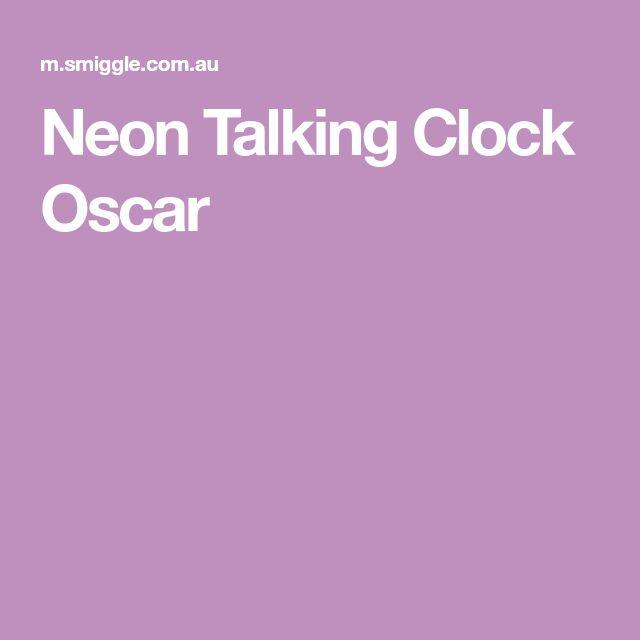 Neon Talking Clock Oscar