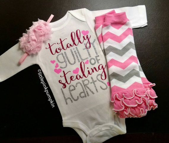Dress your little girl up for her first Valentines Day in this adorable Valentines Day outfit! This is the perfect outfit for your little girls