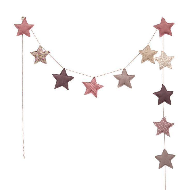 GIRLANDER - NUMERO 74 MINI STAR (MIX PINK) - minikids.no