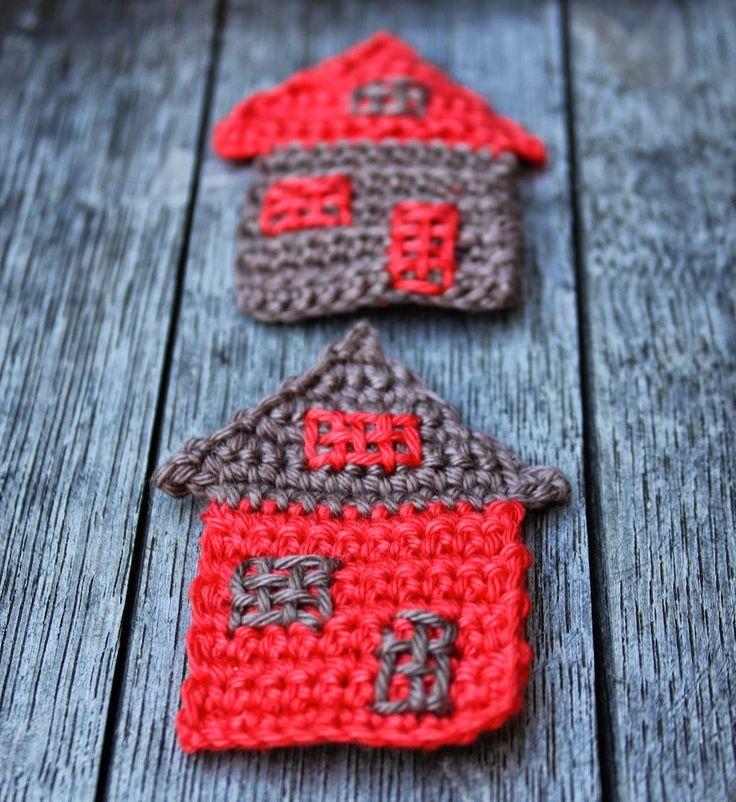 crochet motifs,  Huisjes haken | draadenpapier Tutorial ༺✿ƬⱤღ✿༻