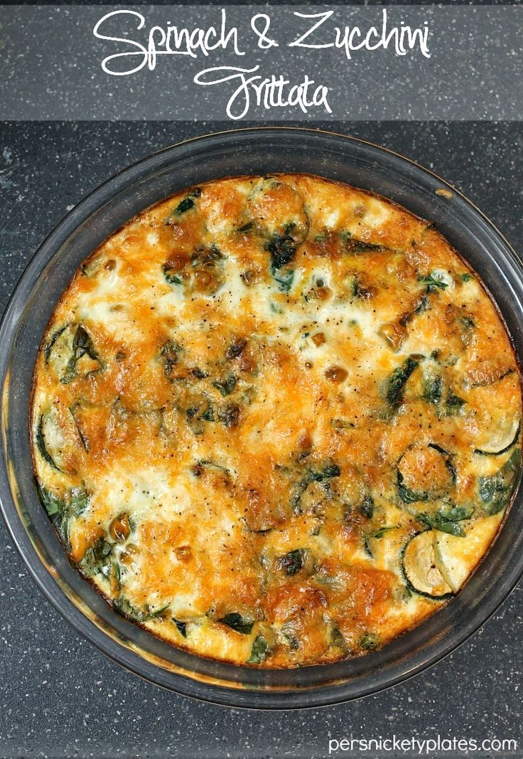 A simple and healthy Spinach & Zucchini Frittata
