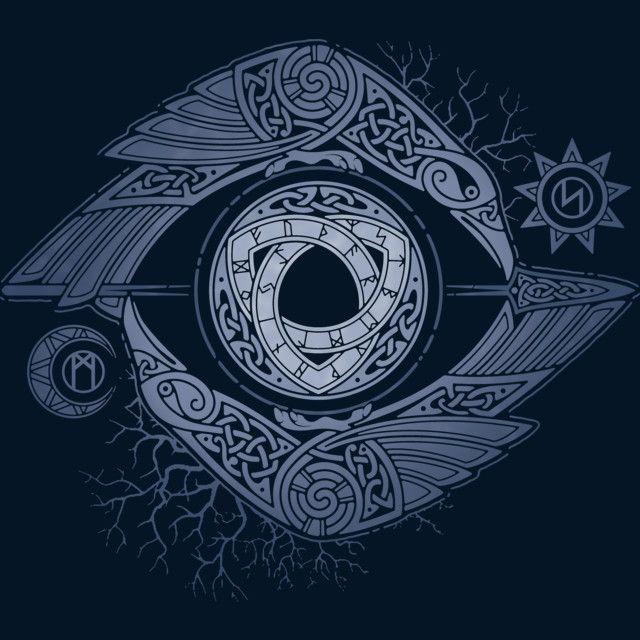 ODIN'S EYE T Shirt By RAIDHO Design By Humans
