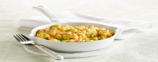 Macaronis aux poireaux