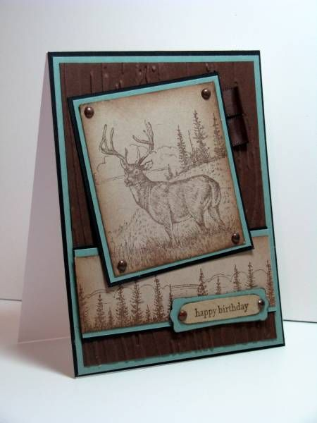 Noble Deer by atsamom - Cards and Paper Crafts at Splitcoaststampers