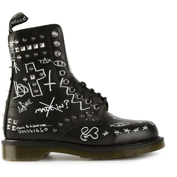DR. MARTENS graffiti ankle boots found on Polyvore