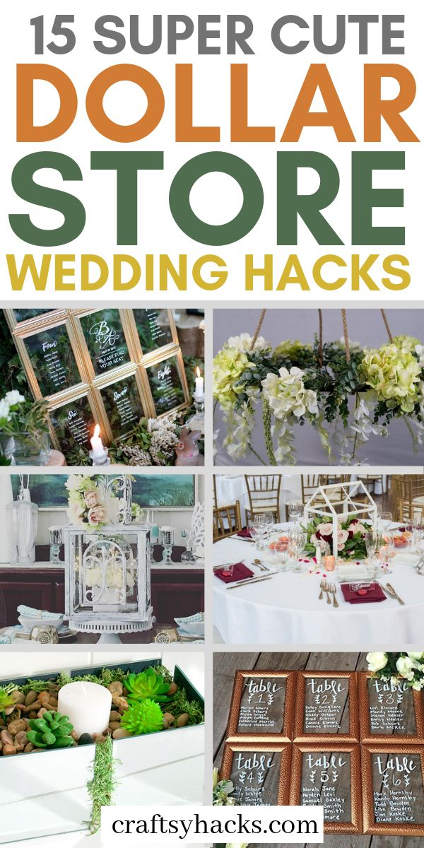 15 Super Cute Dollar Store Wedding Hacks