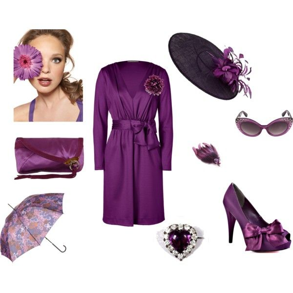 Purple Dress & Accessories, created by wendy-sheets on Polyvore