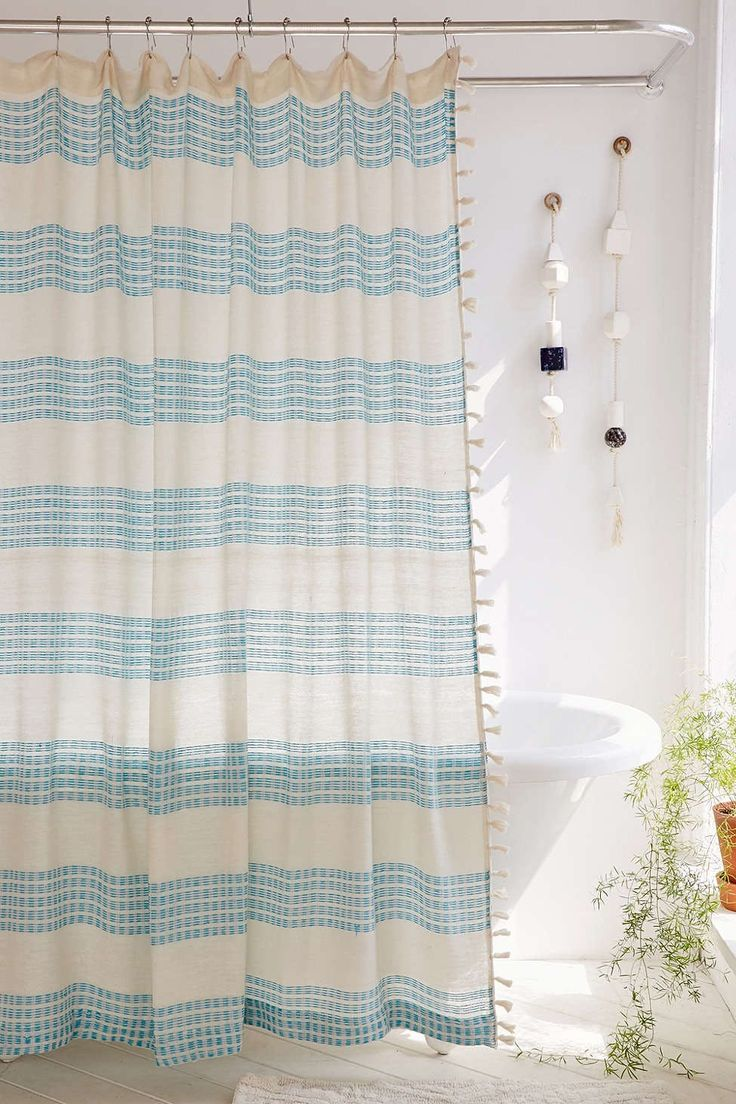 Isra Floating Weft Shower Curtain, sale $49 + 17% off