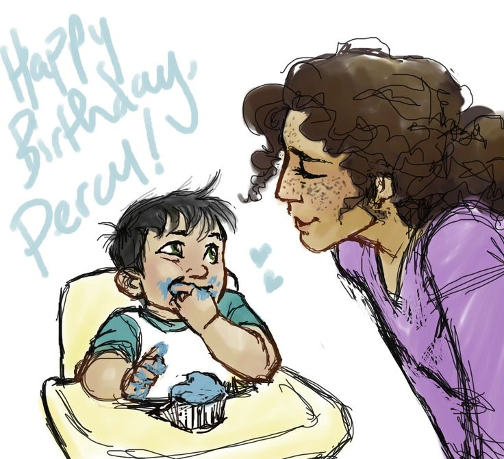 BARELY made it, but i've had this idea in my head for Percy's birthday for a while and had to draw it. i apologize, because i dr...