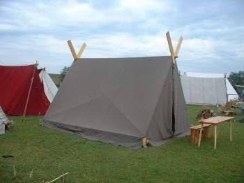 My favorite tutorial on a viking A-frame tent (in Danish but with excelent fotos)