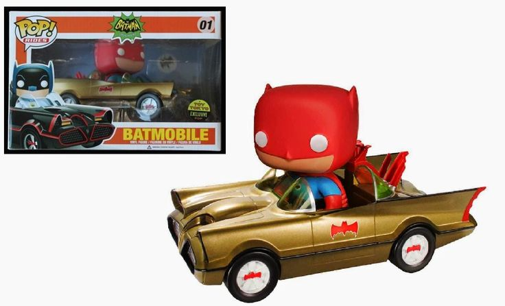 Pop! Rides - Batmobile (Gold with Red Batman)